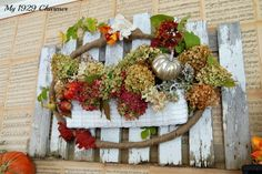 Hydrangea Autumn Wreath {fall}