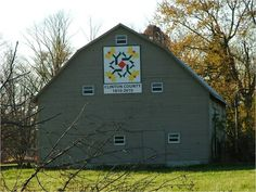 Fantasy Flower - #18 on the Clinton County Bicentennial Barn Quilt Trail - Ohio.  1 of 54 barn quilts in all!  In Clinton County, Ohio in Southwest Ohio.
