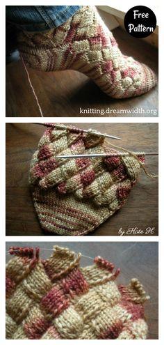 Baby Sweater Knitting Pattern, Loom Knitting Patterns, Free Knitting, Knitting Socks, Crochet Patterns, Knitting Tutorials, Stitch Patterns, Crochet Leg Warmers, Crochet Socks