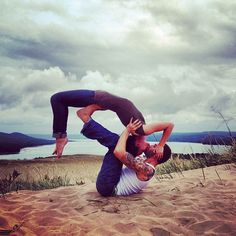 couple kiss fit girl boy tattoo  couples yoga fit