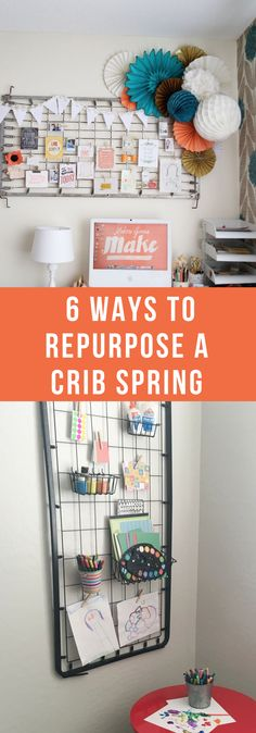 DIY--6 Ways to Repurpose A Crib Spring--The Organized Mom