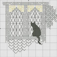 Thrilling Designing Your Own Cross Stitch Embroidery Patterns Ideas. Exhilarating Designing Your Own Cross Stitch Embroidery Patterns Ideas. Motifs Blackwork, Blackwork Cross Stitch, Cross Stitch Charts, Cross Stitch Designs, Cross Stitching, Cross Stitch Patterns, Cat Embroidery, Blackwork Embroidery, Cross Stitch Embroidery