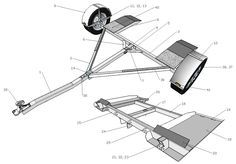 Cutting list and components for the Tow Dolly Trailer