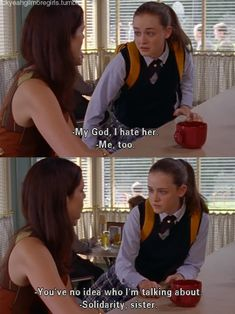 gilmore girls. i've had similar conversations....