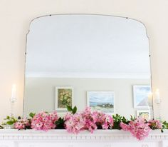 Your place to buy and sell all things handmade Large Vintage Mirror, Vintage Mirrors, Art Deco Mirror, Wall Mirror, Frameless Mirror, Charity Shop, Good Dates, Oversized Mirror, Beautiful