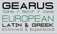 The 75 Best Free Fonts for 2014 - Gearus is a sans-serif typeface by Petros Vasiadis.
