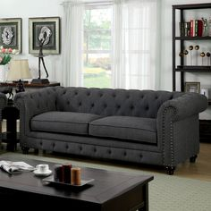 leon s mackenzie sofa modern black bonded leather sectional 81 best living room images in 2018 bedrooms home decor arquitetura found it at allmodern cedric 90 chesterfield tufted