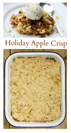 Apple Crisp Recipe - Delicious, Easy and Economical for Holiday Entertaining.  | The Party Bluprints Blog #plantoparty