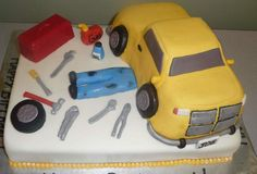 Mechanic Cake made this for a mechanic, got the idea from this site.