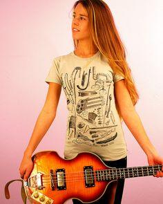 SALE Instrumental Oddities Shirt  Women's by ScatterbrainTees