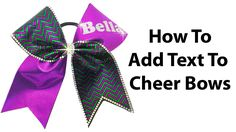 Cheer Bow Tutorial: How To Add Names In Glitter