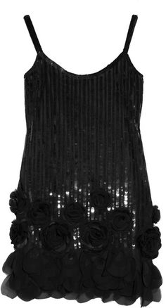ANNA SUI Sequined Tulle Dress