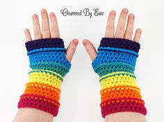Pattern is written using US Terms and includes instructions for fingerless gloves and longer arm warmers.