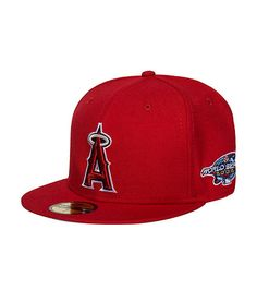 NEW ERA Anaheim Angels MLB baseball fitted cap Embroidered team logo on front of hat Official MLB logo stitching on back Wool base Embroidered 2002 World Series patch on side of cap