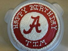 Roll Tide Cakes | Chocolate cake with pbutter frosting