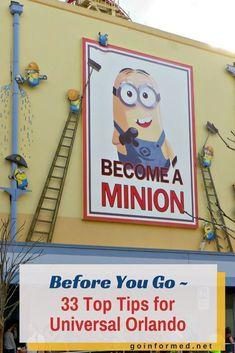 Minions ride at Universal Studios Orlando. 33 Top Tips to know before you visit. #universalstudios #universalorlando