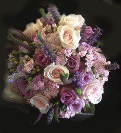 Wedding - Vintage Tea Party // #Purple #Flowers #Beautiful