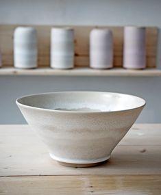 Bowl with frost glaze. Handmade danish ceramics from Tortus Copenhagen.