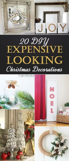 20 DIY Expensive Looking Christmas Decorations