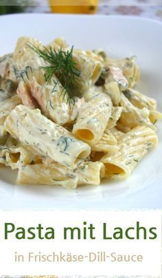 Nudeln mit Lachs und Erbsen in Frischkäse-Dill-Sauce Pasta with salmon also taste the children Sauce Recipes, Pasta Recipes, Diet Recipes, Healthy Family Meals, Easy Healthy Recipes, Italian Recipes, Mexican Food Recipes, Ethnic Recipes, Creamy Dill Sauce