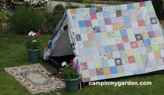 someone is #camping in My garden tonight #pretty #vintage style