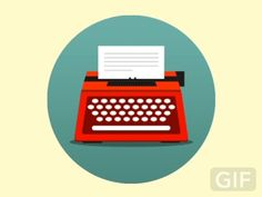 Red typewriter by Fede Cook  2d motion graphics Motion graphics gifs & animated vectors