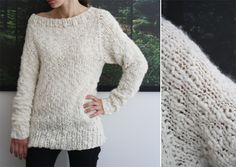 this is an even better pattern than the green sweater pattern that i pinned earlier. the pattern is only in XS, though.