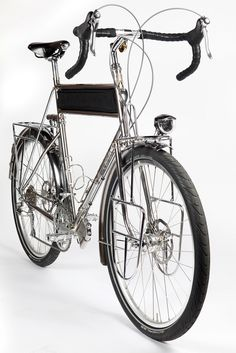 Stainless Steel Touring Bicycle (by Ahearne Cycles) That sneaky flask cage.