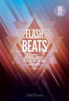 Flash Beats Flyer by styleWish (Buy PSD file - $9) #design #poster #graphic