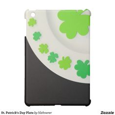 Dress up your mini iPad for the special day.---St. Patrick's Day Plate iPad Mini Case