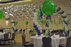 Bar Mitzvahs Purple & Lime Balloon Canopy