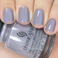 "China Glaze Release | The Giver Collection | Peachy Polish Release"" is an extremely muted pale lavender creme.  This is stunning.  I really love the way muted shades look against my skin-tone.  This one made me ooh and aah.  Amazing formula.  2 perfect coats."