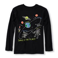 Long Sleeve 'Space Is The Place' Graphic Tee