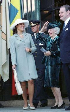 Princess Lilian with Crown Princess Victoria, 2000