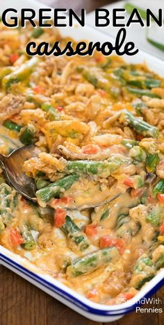 Green Bean Casserole is a classic side dish, great for special occasions like Thanksgiving or Christmas, yet still perfect any time of year! This recipe features fresh green beans cooked until tender crisp in a creamy mushroom sauce with fried onions and of course cheese. The perfect green bean casserole! No turkey dinner feast would …