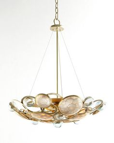 Glass Bubble Three-Light Chandelier by Janice Minor at Horchow.