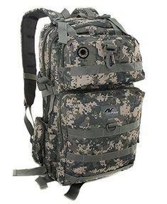 fad2362ca38 mens acu digital camo large inch tactical gear molle l hydration ready  backpack Digital Camo