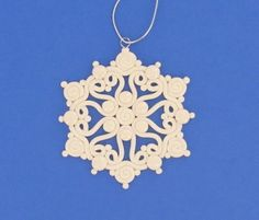 Extruded Snowflakes made with Clay - not my recipe