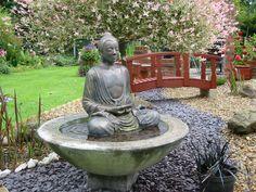 LARGE BUDDHA WATER FEATURE FOUNTAIN OUTDOOR GARDEN PATIO in Garden & Patio, Garden Ornaments, Statues & Lawn Ornaments | eBay