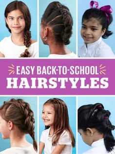 Up your kid's hair game for back to school! These easy hairstyles are perfect for keeping her hair out of her face for class, and look oh-so-stylish, too.