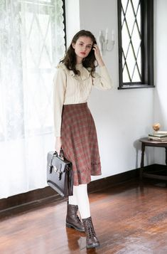 Clothes F i. Modest Outfits, Skirt Outfits, Modest Fashion, Cool Outfits, Fashion Dresses, 1960s Outfits, Vintage Outfits, Jw Moda, Country Fashion