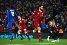 Mohamed Salah's game by numbers vs Leicester: 18 passes completed; 6 shots; 3 (100%) take-ons completed; 2 shots on target; 2 goals.
