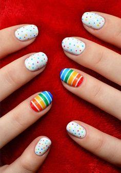 small polkadots regular nail designs