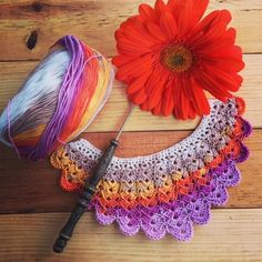 Katia yarns make for fantastic colorful crochet bib necklaces! Crochet Bib, Crochet Necklace, Bib Necklaces, Yarns, My Etsy Shop, Colorful, How To Make, Atelier, Crochet Collar