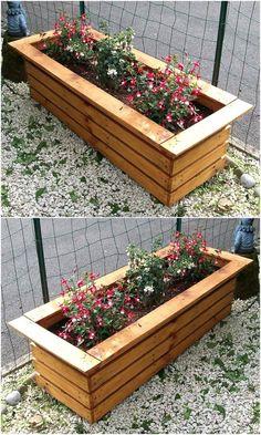 reused wood pallet planter