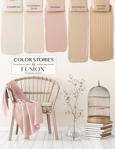 May& Color Story from Fusion Mineral Paint. May's Color Story from Fusion Mineral Paint Bedroom Paint Colors, Paint Colors For Home, House Colors, Pink Paint Colors, Vintage Paint Colors, Calming Paint Colors, Indoor Paint Colors, Color Paints, Relaxing Colors