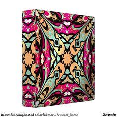 Beautiful complicated colorful moroccan ornament. 3 ring binder make interior unique and add aesthetics sense. Ornament create in oriental tradition. #Home #decor #Room #Interior #decorating #Idea #Styles