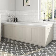 Discover more about The Bath Co.Dulwichstone ivory wooden bath panel pack, perfect for traditional bathrooms. Wooden Bath Panel, Tiled Bath Panel, Wood Panel Bathroom, Wood Bathtub, Bamboo Bathroom, Timeless Bathroom, Modern Bathroom, Bathroom Grey, Minimalist Bathroom