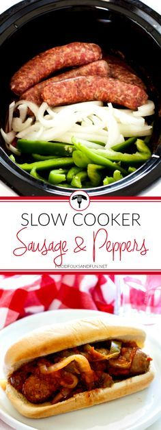 Sausage and Peppers is a classic Italian-American comfort food dish; Ive adde – … Advertisements Sausage and Peppers is a classic Italian-American comfort food dish; Ive adde – Slow Cooker – Ideas of Slow Cooker – Sausage and Peppers… Continue Reading → Crockpot Dishes, Crock Pot Slow Cooker, Crock Pot Cooking, Pressure Cooker Recipes, Crockpot Meals, Cooking Time, Freezer Cooking, Cooking Pork, Vegetarian Cooking