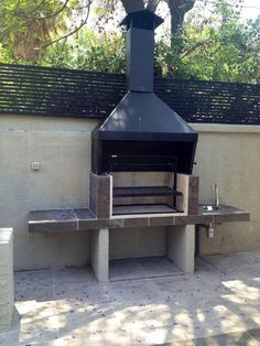 EL QUINCHO - GRILLS When old around principle, the pergola has been experiencing a bit Design Barbecue, Grill Design, Outdoor Spaces, Outdoor Living, Outdoor Decor, Parrilla Exterior, Brick Bbq, Kitchen Grill, Bbq Area